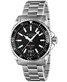 Unisex Swiss Dive Stainless Steel Bracelet Watch 40mm