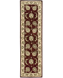 """Nourison Area Rug, Wool & Silk 2000 2022 Lacquer 2'6""""x12' Runner Rug"""