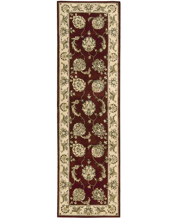 """Nourison Wool and Silk 2000 2022 Lacquer 2'6"""" x 12' Runner Rug"""