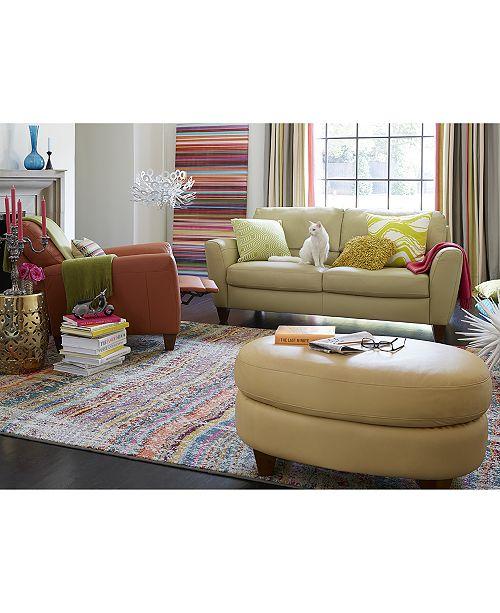 Furniture Almafi Leather Sofa Living Room Collection