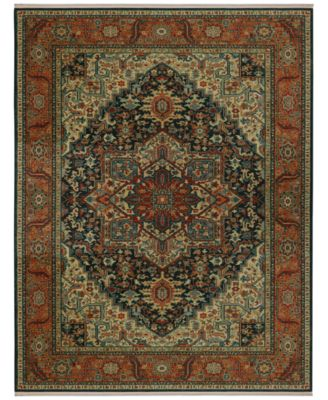 "Sovereign Maharajah Navy 4'3"" x 6' Area Rug"