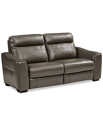 Destin Leather 2 Piece Power Motion Sofa Furniture Macy 39 S