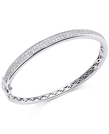 White Sapphire Bangle Bracelet in Sterling Silver (2 ct. t.w.)