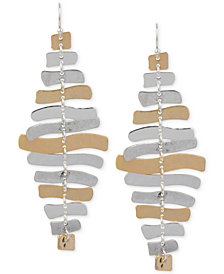 Robert Lee Morris Soho Two-Tone Sculptural Chandelier Earrings