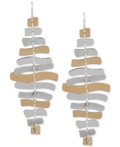 Robert Lee Morris Soho Two-Tone Sculptural Chandelier Earrings