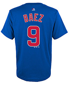 Majestic Javier Baez Chicago Cubs Player T-Shirt, Big Boys (8-20)
