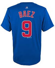 Majestic Javier Baez Chicago Cubs Player T-Shirt, Big Boys (8-20)
