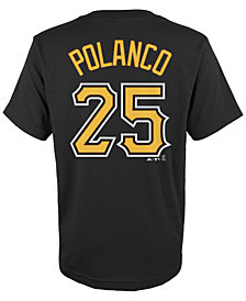 Majestic Kids' Gregory Polanco Pittsburgh Pirates Player T-Shirt