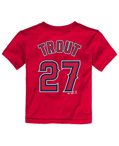 low priced b24c0 d6742 ... Majestic Toddlers  Mike Trout Los Angeles Angels of Anaheim Player T- Shirt ...