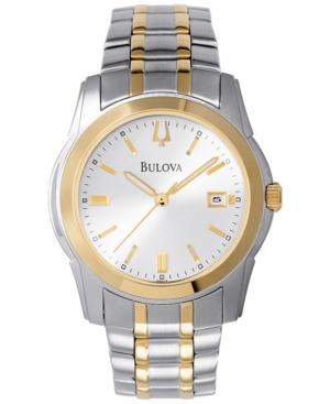 Bulova Men's Two Tone Stainless Steel Bracelet Watch 40mm 98H18