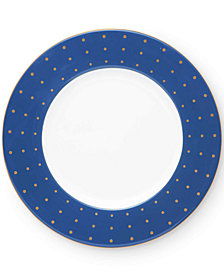 "kate spade new york Library Lane Navy 9"" Accent Plate"