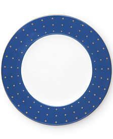 """kate spade new york Library Lane Navy 9"""" Accent Plate"""
