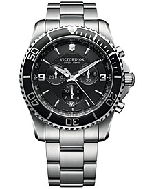 Men's Chronograph Maverick Stainless Steel Bracelet Watch 43mm 241695