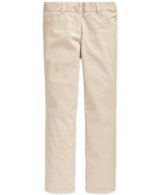 Image of Nautica School Uniform Stretch Bootcut Pants, Little Girls (2-6X) & Big Girls (7-16)