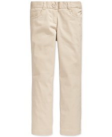 Nautica Big Girls School Uniform Stretch Bootcut Pants
