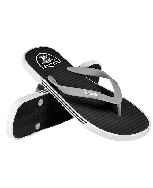 937fc61cf Forever Collectibles Oakland Raiders Thong Sandals - Sports Fan Shop ...