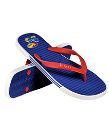 Forever Collectibles Kansas Jayhawks Thong Sandals