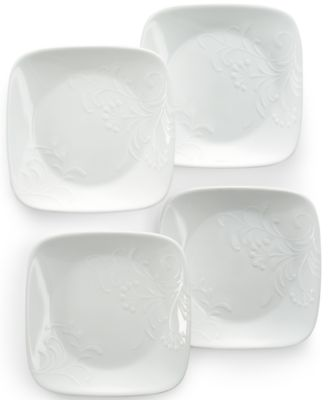 Corelle Boutique Cherish .  sc 1 st  Macyu0027s & Corelle Boutique Cherish Embossed Square 16-Pc. Set Service for 4 ...