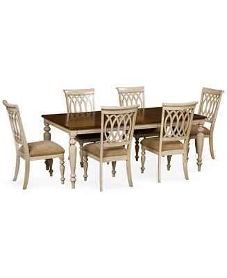 Dovewood Dining Room Furniture 7 Piece Set Table And 6 Side Chairs Furnit