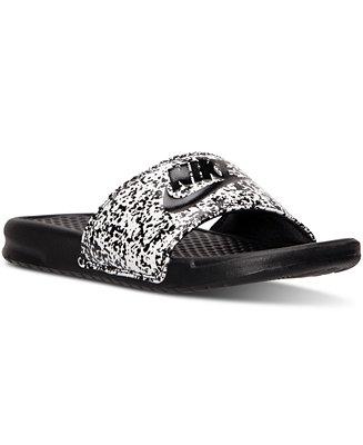 1d621916e4618e Nike Men s Benassi JDI Print Slide Sandals from Finish Line   Reviews -  Finish Line Athletic Shoes - Men - Macy s