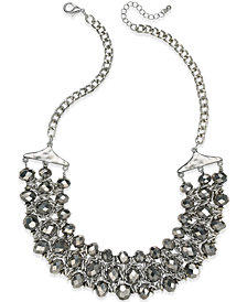 I.N.C. Silver-Tone Beaded Chain Necklace