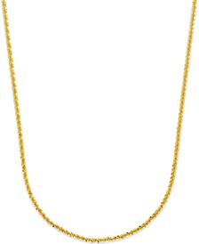 Crisscross Chain Necklace (1-3/4mm) in 14k Gold