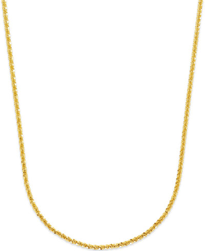 Crisscross Chain Necklace in 14k Gold