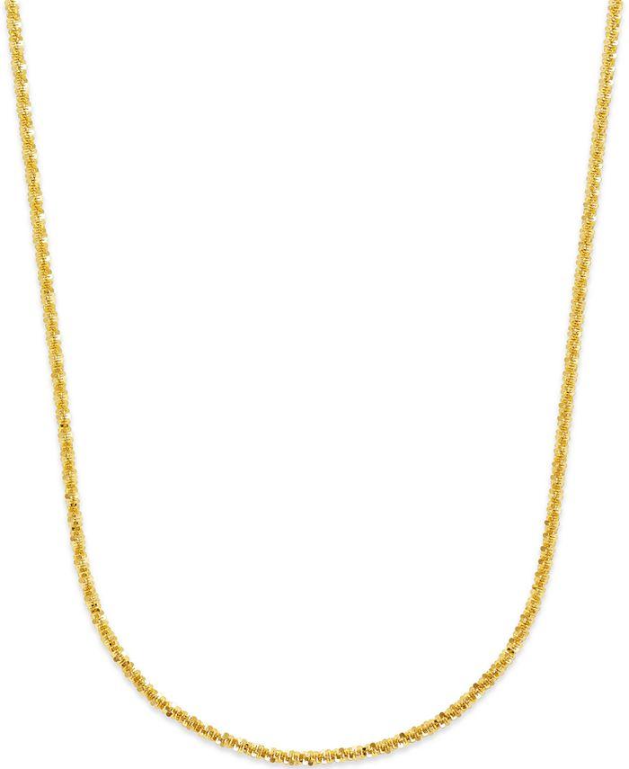 Macy's - Crisscross Chain Necklace in 18k Gold