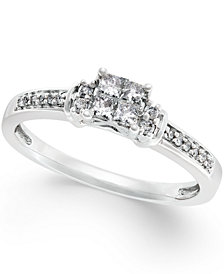 Diamond Promise Ring in 10k White gold (1/4 ct. t.w.)