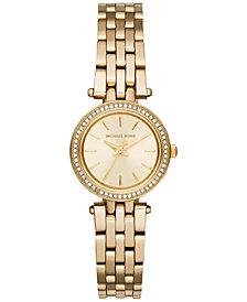 Michael Kors Women's Petite Darci Gold-Tone Stainless Steel Bracelet Watch 26mm MK3295