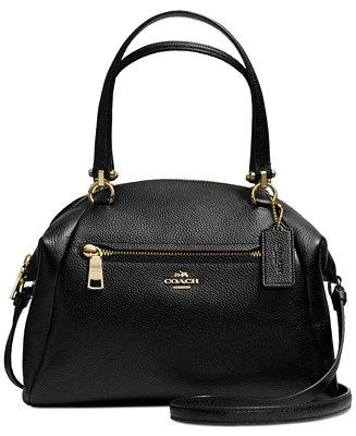 Coach Prairie Satchel In Pebble Leather Handbags