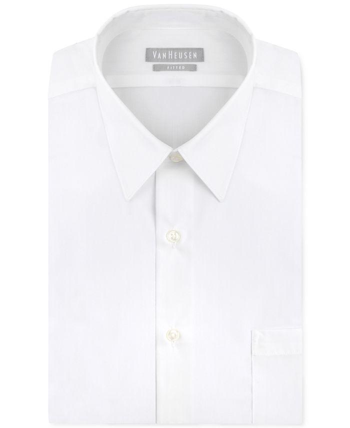 Van Heusen - Men's Fitted Poplin Dress Shirt