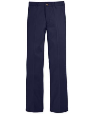 Image of Nautica Flat-Front Twill School Uniform Pants, Big Boys (8-20)