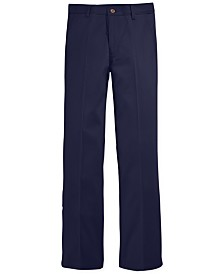 Nautica Flat-Front Twill School Uniform Pants, Big Boys