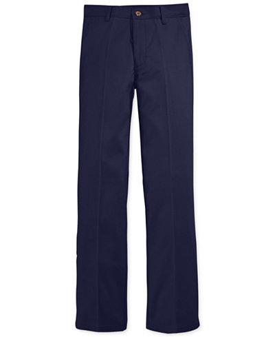 Nautica Boys' Flat-Front Twill Uniform Pants - Leggings & Pants ...