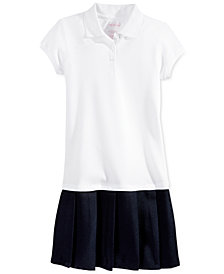 Nautica School Uniform Pleated Polo Dress, Big Girls