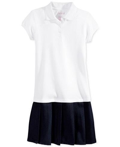 Nautica School Uniform Pleated Polo Dress Big Girls