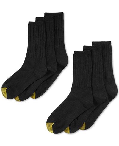 Gold Toe Women's Ribbed Crew 6 Pack Socks - Handbags ...