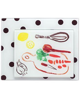 kate spade new york all in good taste Set of 2 Deco Dot Food Prep Boards