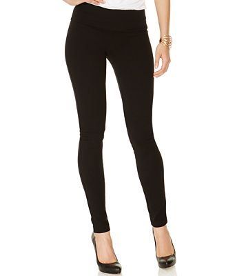 INC International Concepts Pull-On Ponte Skinny Pants, Created for ...