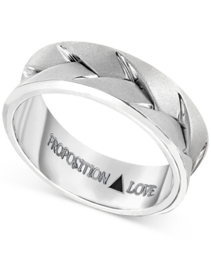 Proposition Love Men's Braided Wedding Band in 14k White Gold