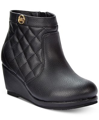 Michael Kors Girls' or Little Girls' Wedge Booties - Shoes - Kids ...