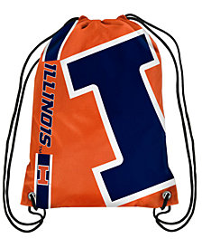 Forever Collectibles Illinois Fighting Illini Big Logo Drawstring Bag