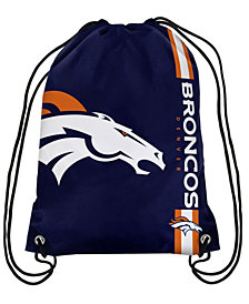 Forever Collectibles Denver Broncos Big Logo Drawstring Bag