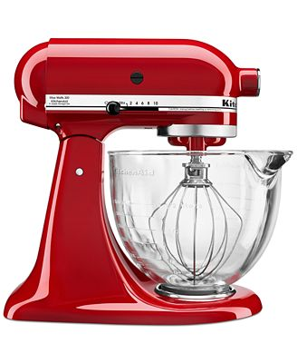 Kitchenaid Ksm105Gbc 5 Qt. Stand Mixer With Glass Bowl & Flex Edge