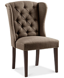 Maria Tufted Tufted Wing Dining Chair, Quick Ship