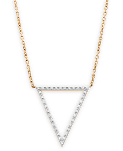wrapped™ Diamond Accent Triangle Pendant in 10K Gold, Created for Macy's