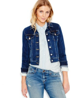 Levi's® Juniors' Authentic Trucker Denim Jacket - Juniors Jackets ...