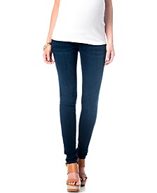 Denim Maternity Jeggings, Dark Wash