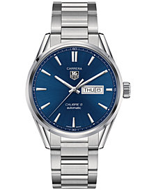 TAG Heuer Men's Swiss Automatic Carrera Stainless Steel Bracelet Watch